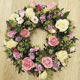 Mixed Rose Wreath