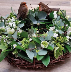 Natural Robin Wreath