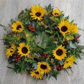 Wild Sunflower Wreath